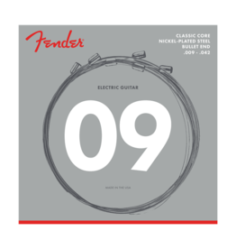 Fender NEW Fender Classic Core Electric Strings - Nickel Plated Steel - .009-.042 - Bullet End