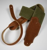 """Franklin Straps NEW Franklin 2.5"""" Sedona Suede with Rust Suede End Tabs - Olive"""