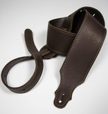 "Franklin Straps Franklin 2.5"" Glove Leather/Buck Backing/Choc/Gold Stitch"