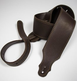 "Franklin Straps NEW Franklin 2.5"" Glove Leather/Buck Backing/Choc/Gold Stitch"
