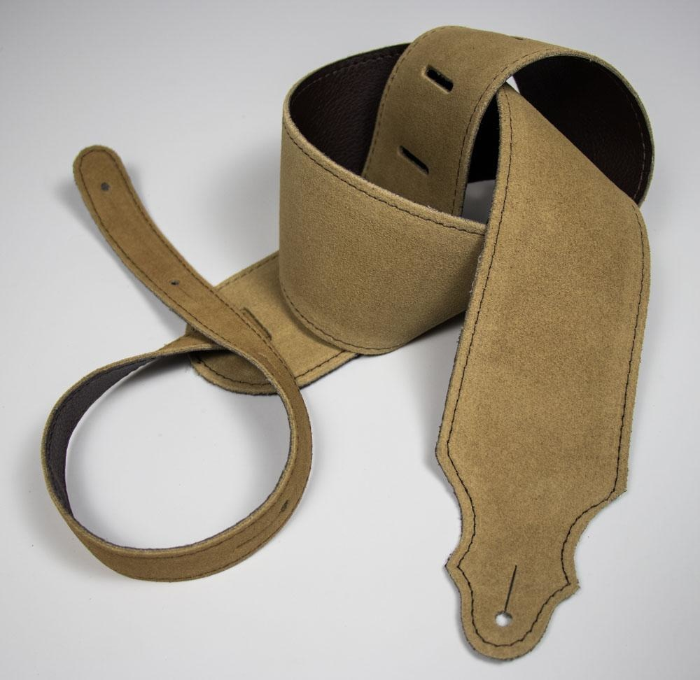"Franklin Straps NEW Franklin 3"" Suede/Buck Backing/Honey/Brown Stitch"