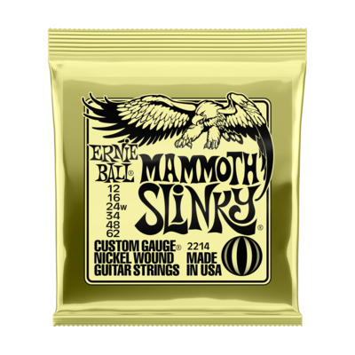 Ernie Ball NEW Ernie Ball Mammoth Slinky Electric Strings - .012-.062