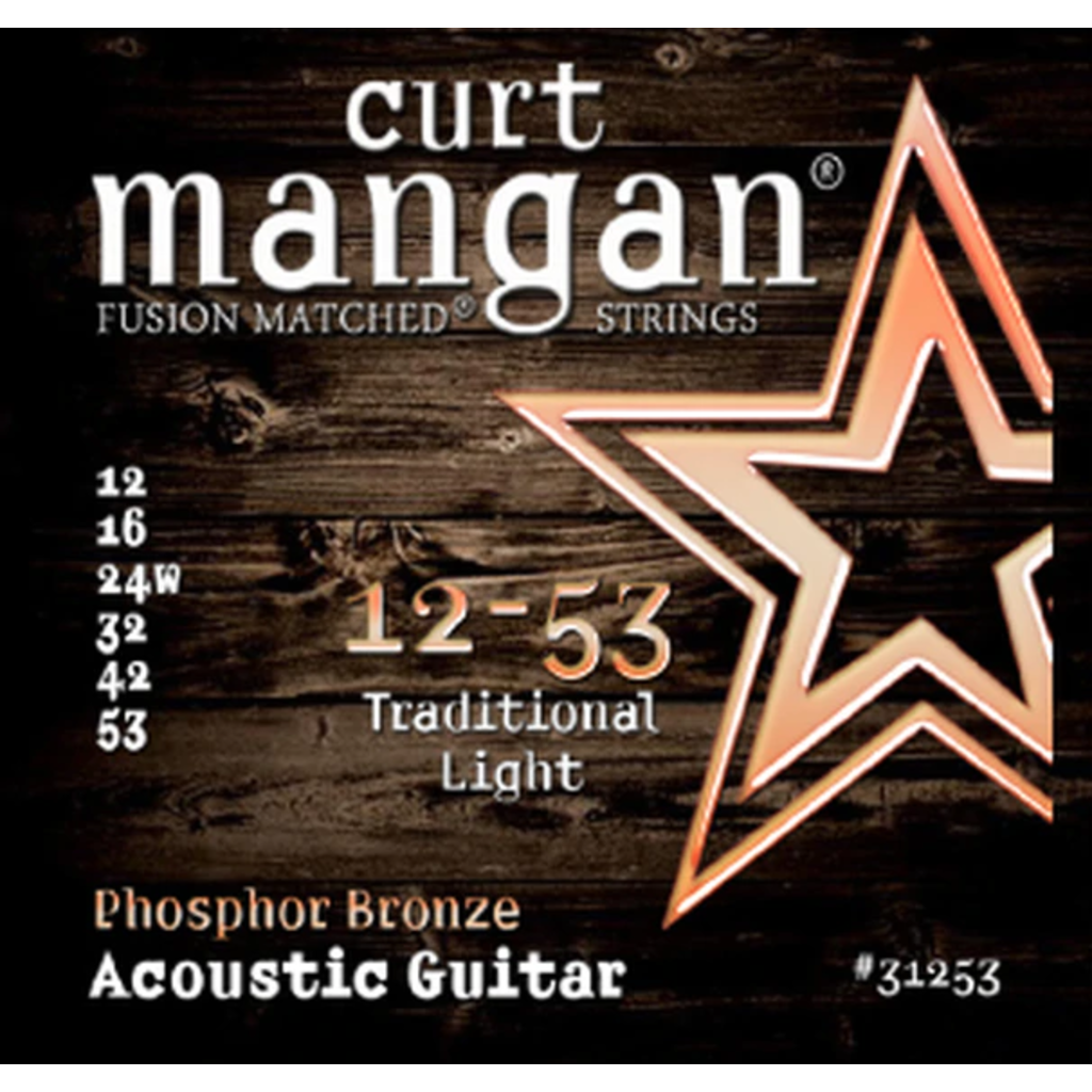 Curt Mangan NEW Curt Mangan Phosphor Bronze Acoustic Strings - Light - .012-.053