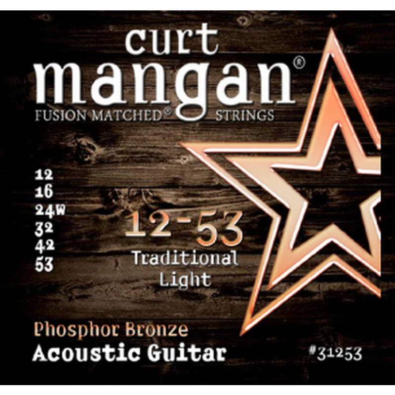 Curt Mangan NEW Curt Mangan Phosphor Bronze Acoustic Strings - Light - .012-.053
