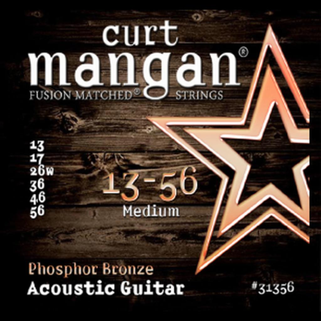Curt Mangan NEW Curt Mangan Phosphor Bronze Acoustic Strings - Medium - .013-.056