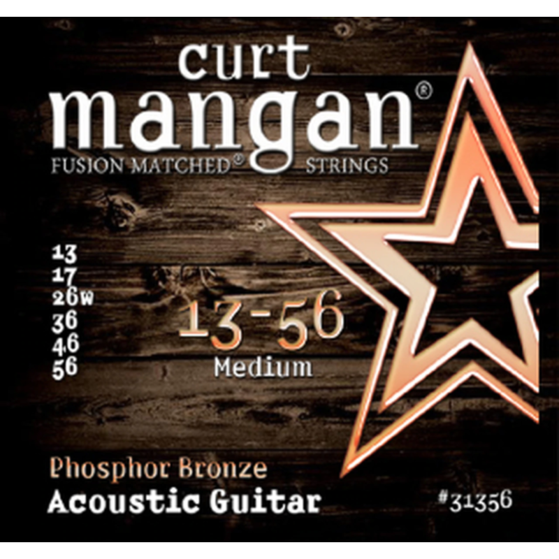 Curt Mangan NEW Curt Mangan Phosphor Bronze Acoustic Strings - Medium - .013-.056