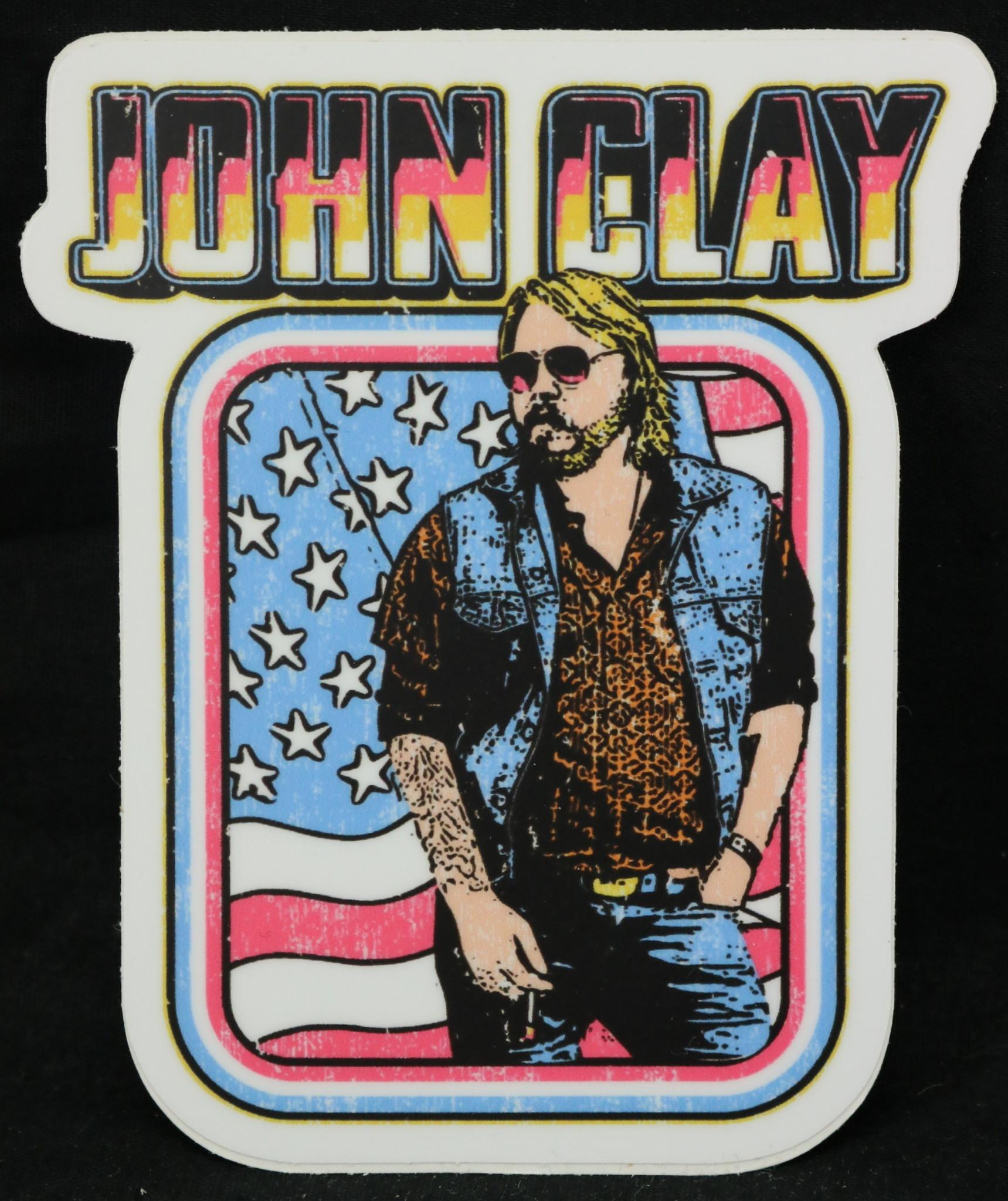 Local Music NEW John Clay Sticker