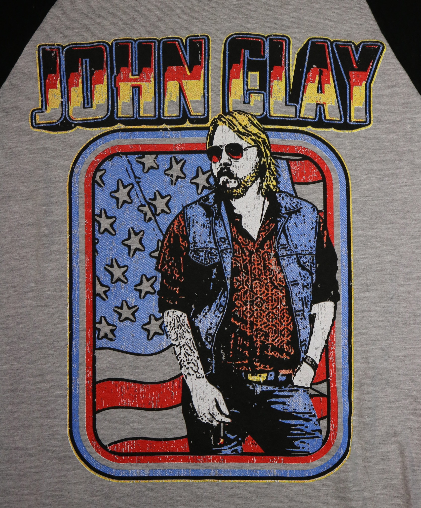 Local Music NEW John Clay 3/4 Sleeve Baseball T-Shirt - XL