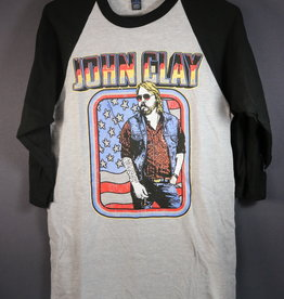 Local Music NEW John Clay 3/4 Sleeve Baseball T-Shirt - L
