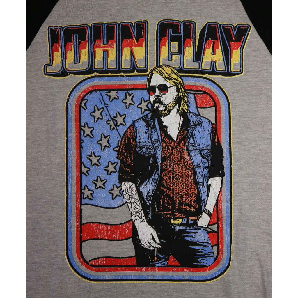 Local Music NEW John Clay 3/4 Sleeve Baseball T-Shirt - M
