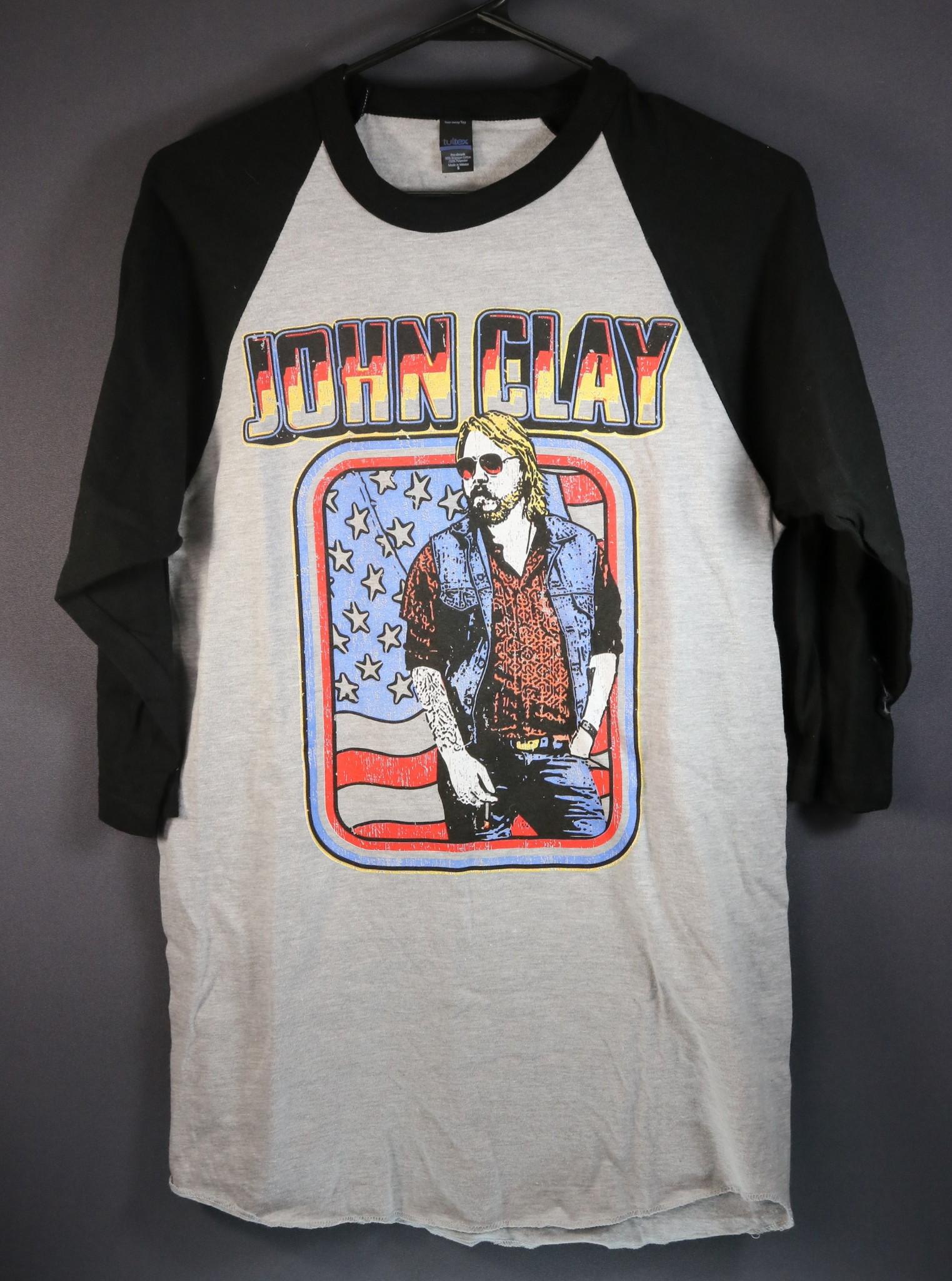 Local Music NEW John Clay 3/4 Sleeve Baseball T-Shirt - M