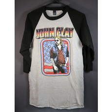 Local Music NEW John Clay 3/4 Sleeve Baseball T-Shirt - S