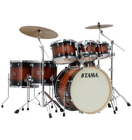 Tama NEW Tama Superstar Classic 7-Piece Shell Pack - Mahogany Burst Lacquer