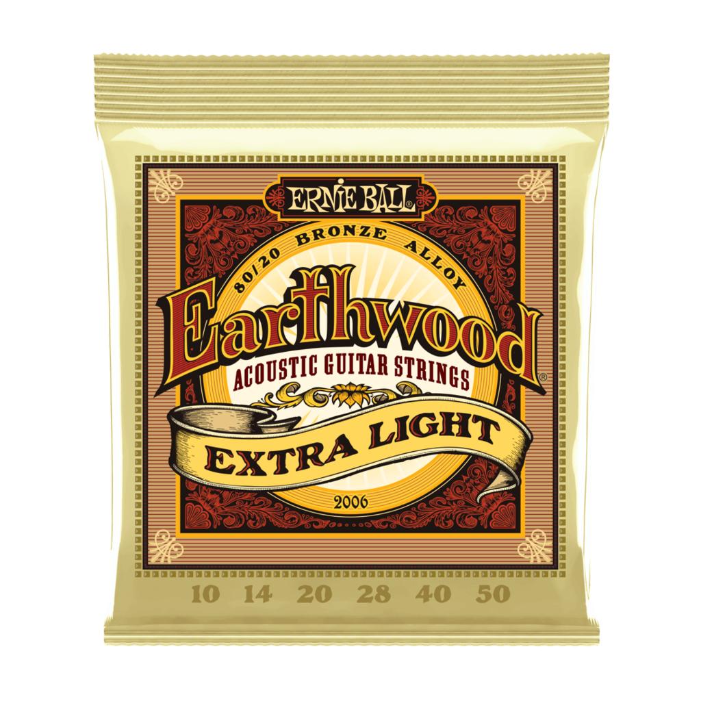 Ernie Ball NEW Ernie Ball Earthwood 80/20 Acoustic Strings - Extra Light - .010-.050