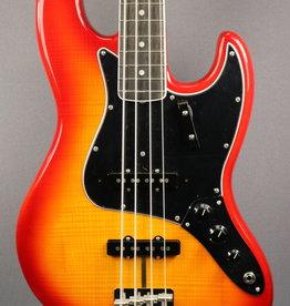 Fender NEW Fender Rarities Flame Ash Top Jazz Bass - Plasma Red Burst (872)