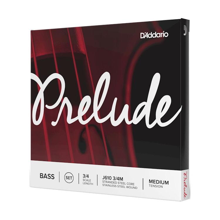 D'Addario NEW D'Addario Prelude Bass String Set - 3/4 - Medium Tension
