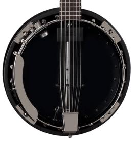 Dean NEW Dean Backwoods Banjo 6 w/Pickup - Black Chrome