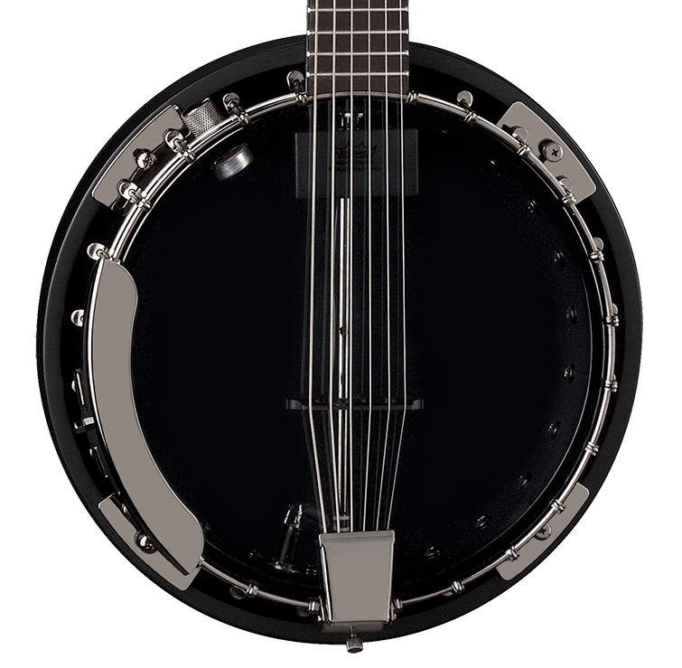 Dean NEW Dean Backwoods Banjo 6 w/Pickup - Black Chrome