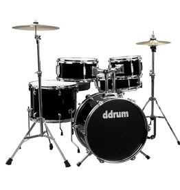 ddrum NEW ddrum D1 5 Piece Complete Junior Drum Kit - Midnight Black