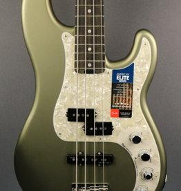 Fender USED Fender American Elite Precision Bass - Satin Jade Pearl (020)