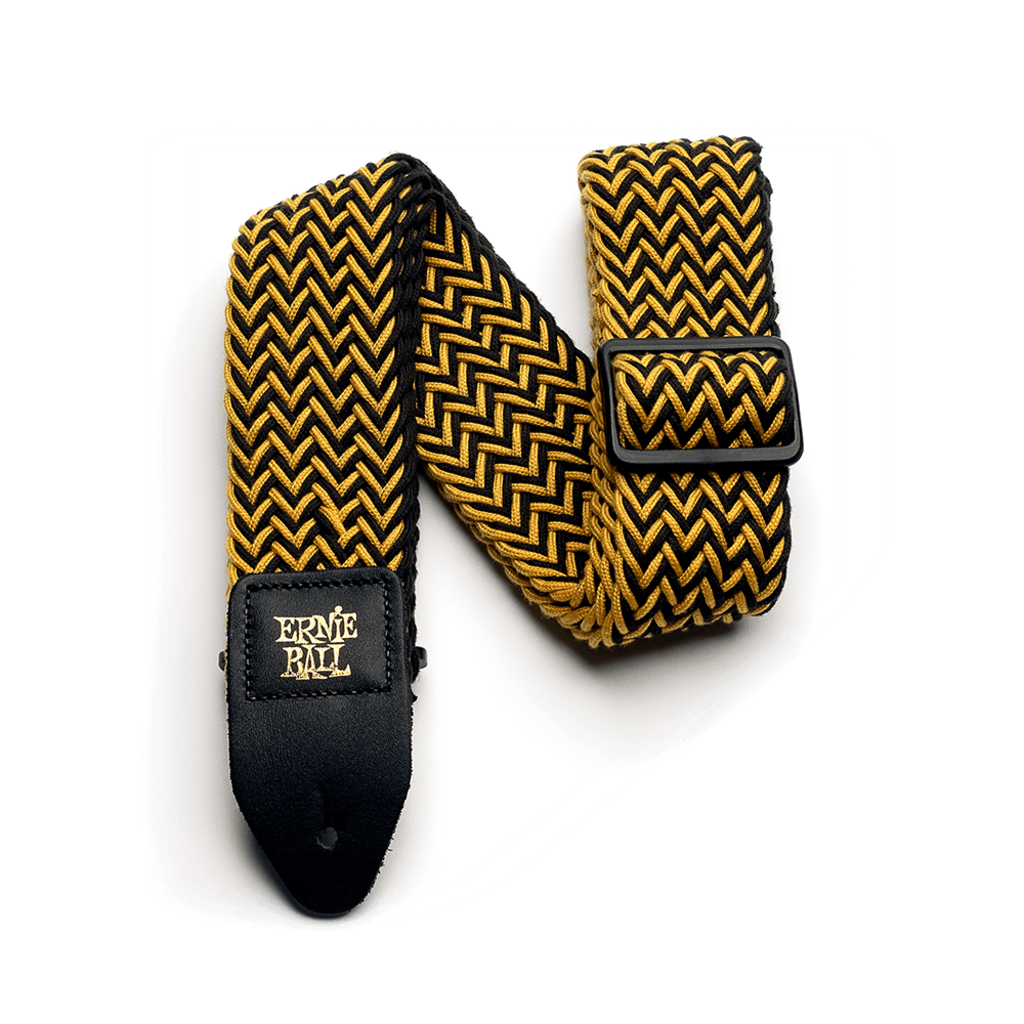 Ernie Ball NEW Ernie Ball Polyspun Guitar Strap - Yellow Jacket