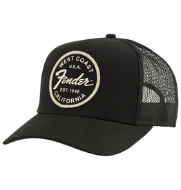 Fender NEW Fender West Coast Trucker Hat - Black - One Size Fits Most