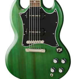 Epiphone NEW Epiphone SG Classic Worn P-90s - Worn Inverness Green (871)