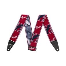 Fender NEW Fender Weighless Monogrammed Strap - Red/White/Blue