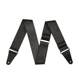 Fender NEW Fender Tooled Leather Guitar Strap - Black