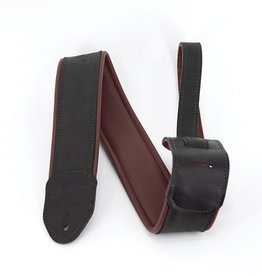 Martin NEW Martin Garment Leather Guitar Strap - Maroon and Black