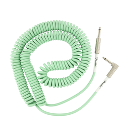 Fender NEW Fender Original Series Coil Cable - Straight-Angle - Surf Green - 30'
