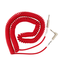 Fender NEW Fender Original Series Coil Cable - Straight-Angle - Fiesta Red - 30'