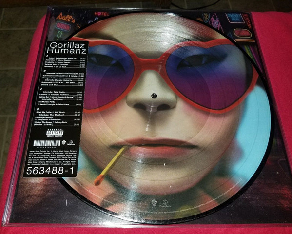 "Vinyl NEW Gorillaz ""Humans"" Picture Disc LP Limited Edition"