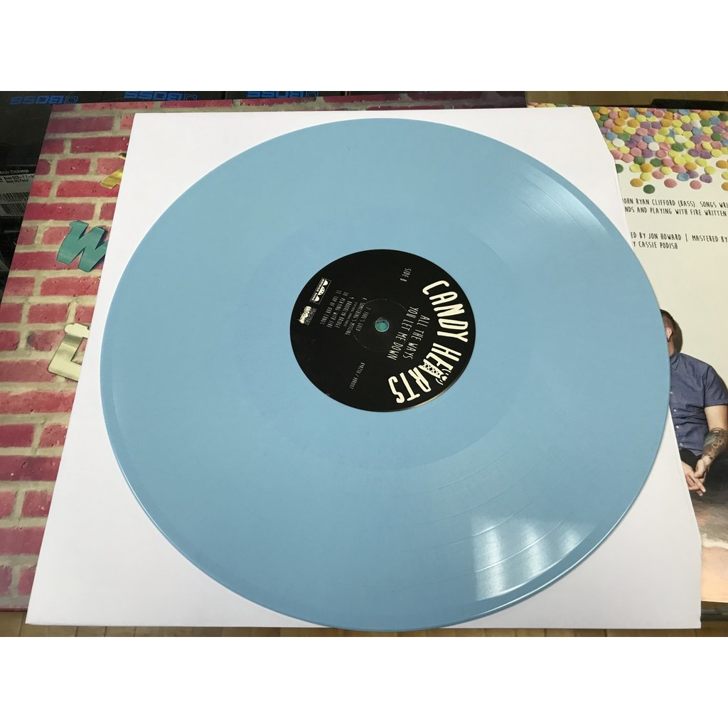 "Vinyl Used Candy Hearts ""All The Ways you Let Me Down"" LP-Baby Blue Vinyl"