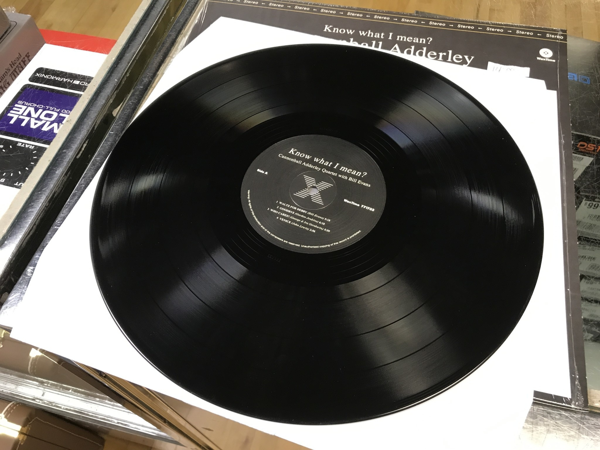 """Vinyl Used Cannonball Adderley with Bill Evans """"Know What I Mean?"""" LP 180 Gram"""