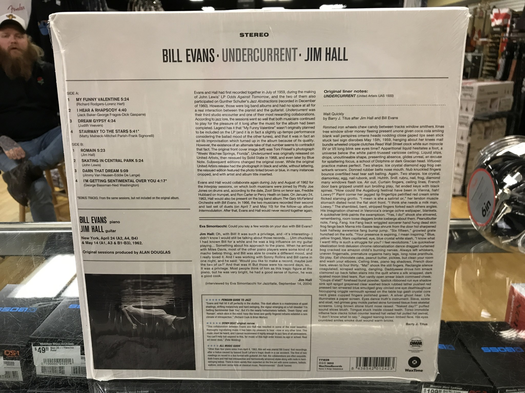 "Vinyl Used Bill Evans/Jim Hall ""Undercurrent"" LP 180gram"
