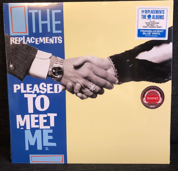"""Vinyl New The Replacements """"Pleased To Meet Me"""" LP-Limited Edition- Blue Vinyl"""