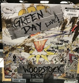 """Vinyl Used Green Day """" Woodstock 1994 Live"""" LP-Limited Edition"""
