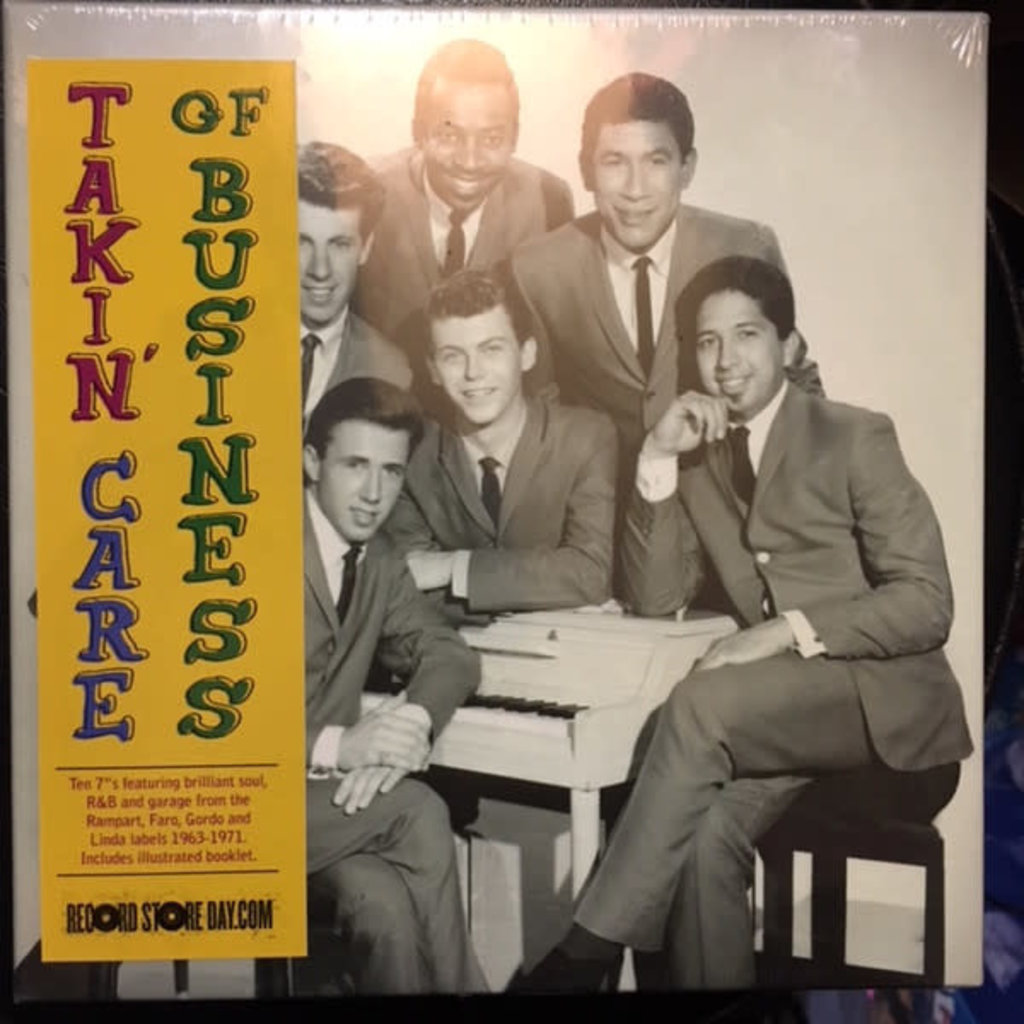 """Vinyl New RSD18 Various Artists """"Takin' Care of Business: Soul, R&B, and Garage from the vaults of Rampart Records 1963-1971"""" 7in Box Set-Limited Edition"""