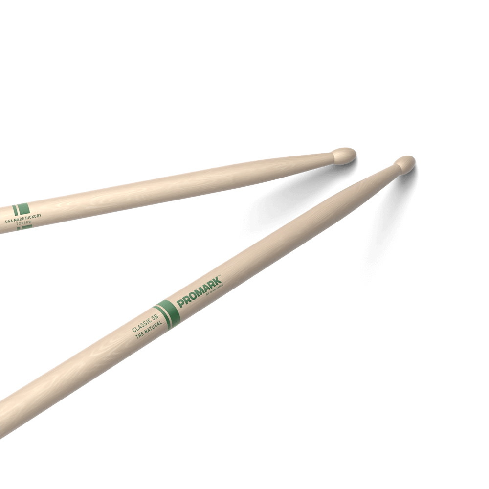 Pro-Mark NEW Promark Classic 5B Natural Hickory - Wood Tip