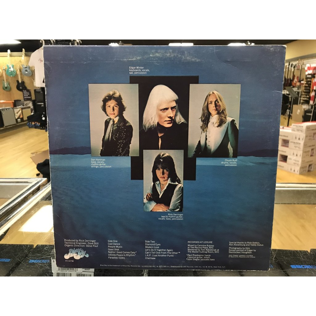 """Vinyl Used  The Edgar Winter Group With Rick Derringer """"The Edgar Winter Group With Rick Derringer"""" LP"""