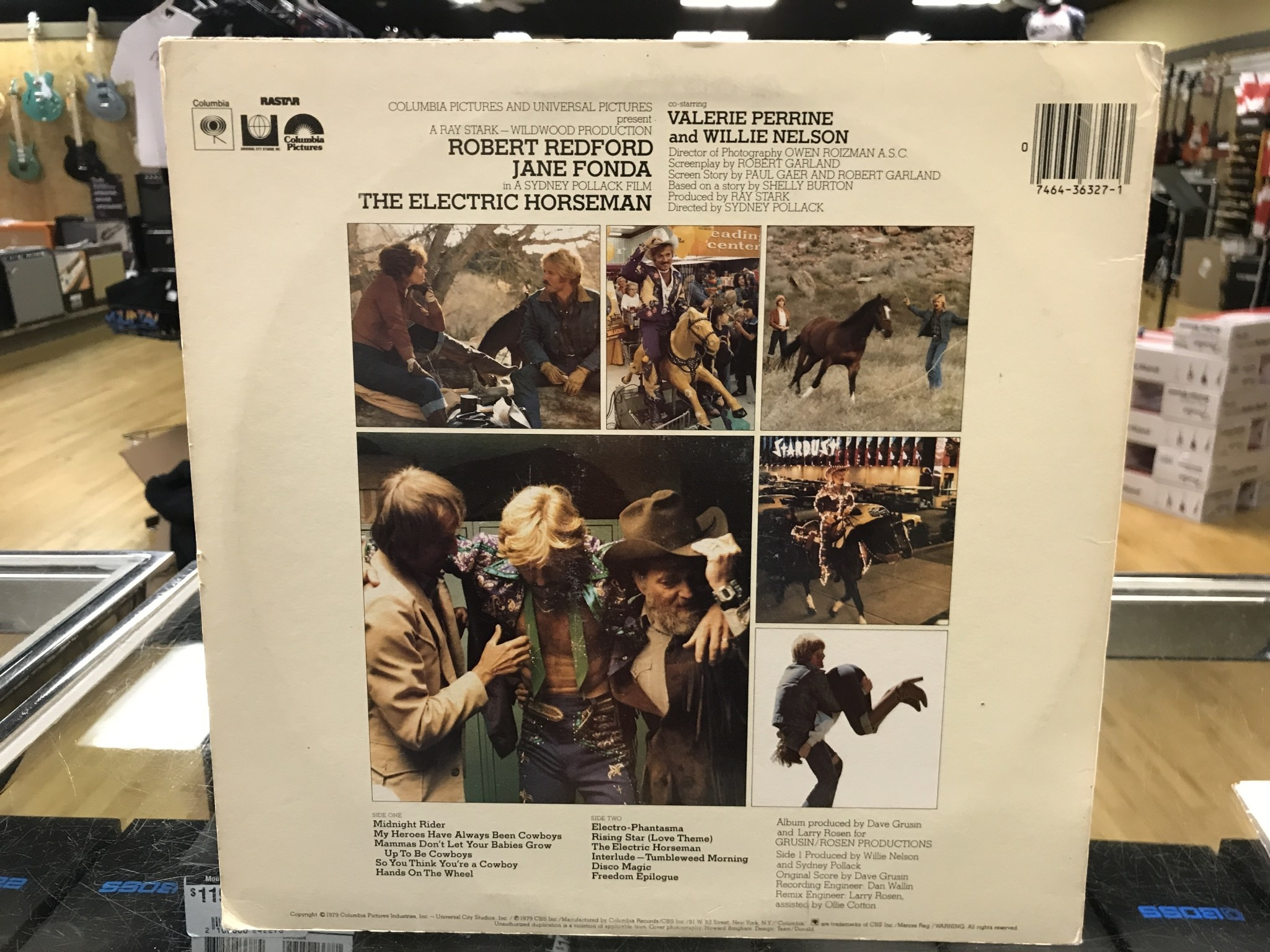 "Vinyl Used  Willie Nelson / Dave Grusin ‎""The Electric Horseman (Music From The Original Motion Picture Soundtrack)"" LP"