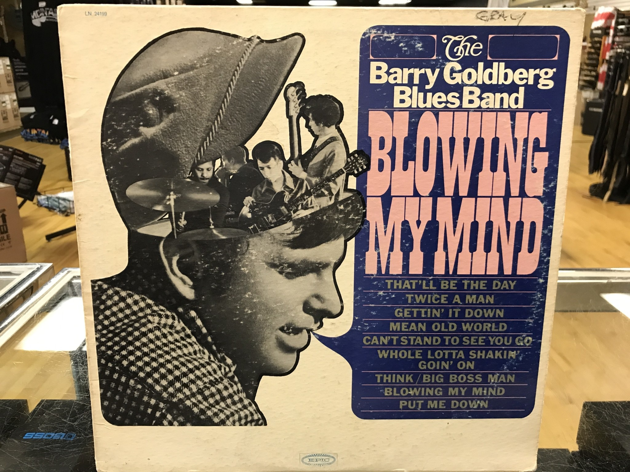 """Vinyl Used The Barry Goldberg Blues Band """"Blowing My Mind"""" LP-Promo"""