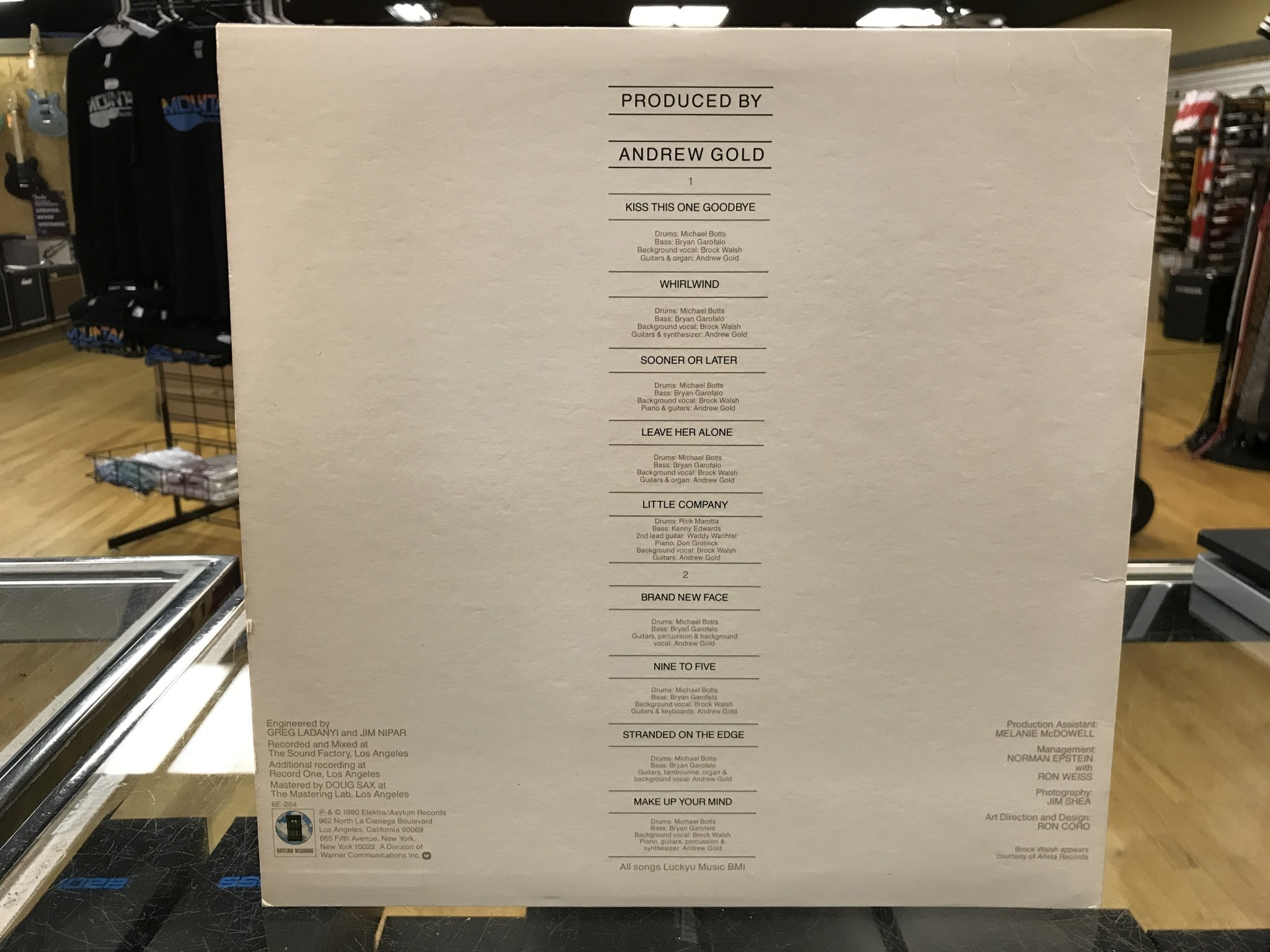 """Vinyl Used Andrew Gold """"Whirlwind"""" LP-Promotional Copy"""