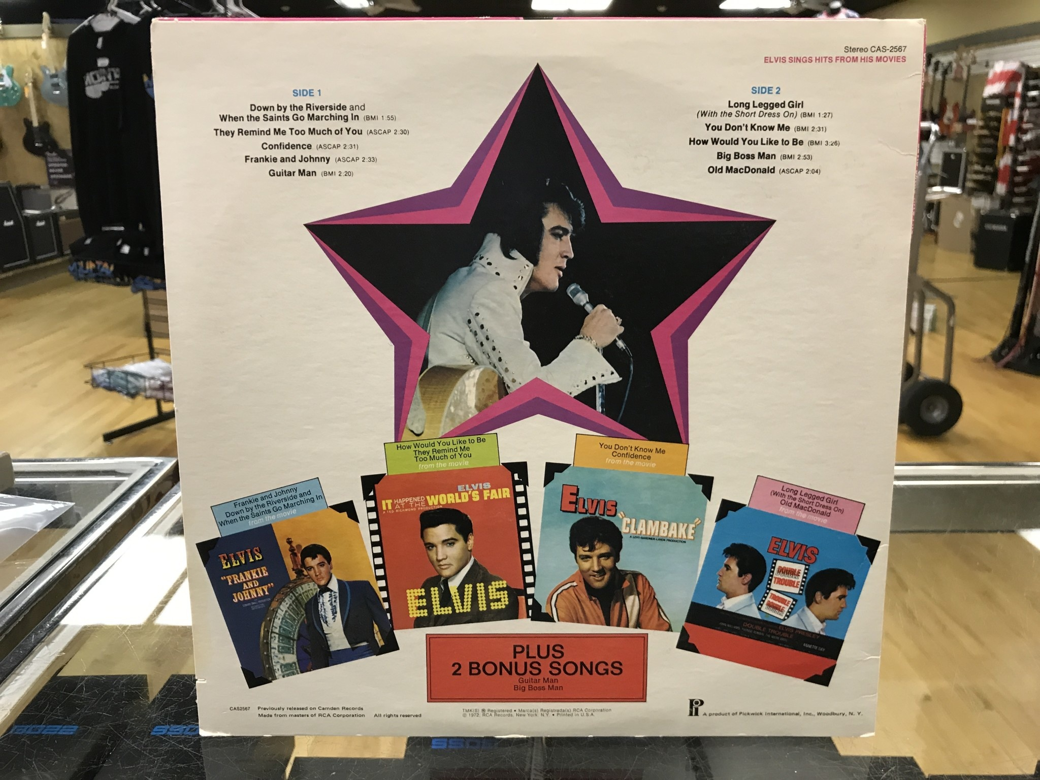 "Vinyl Used  Elvis ‎""Sings Hits From His Movies, Volume 1"" LP"