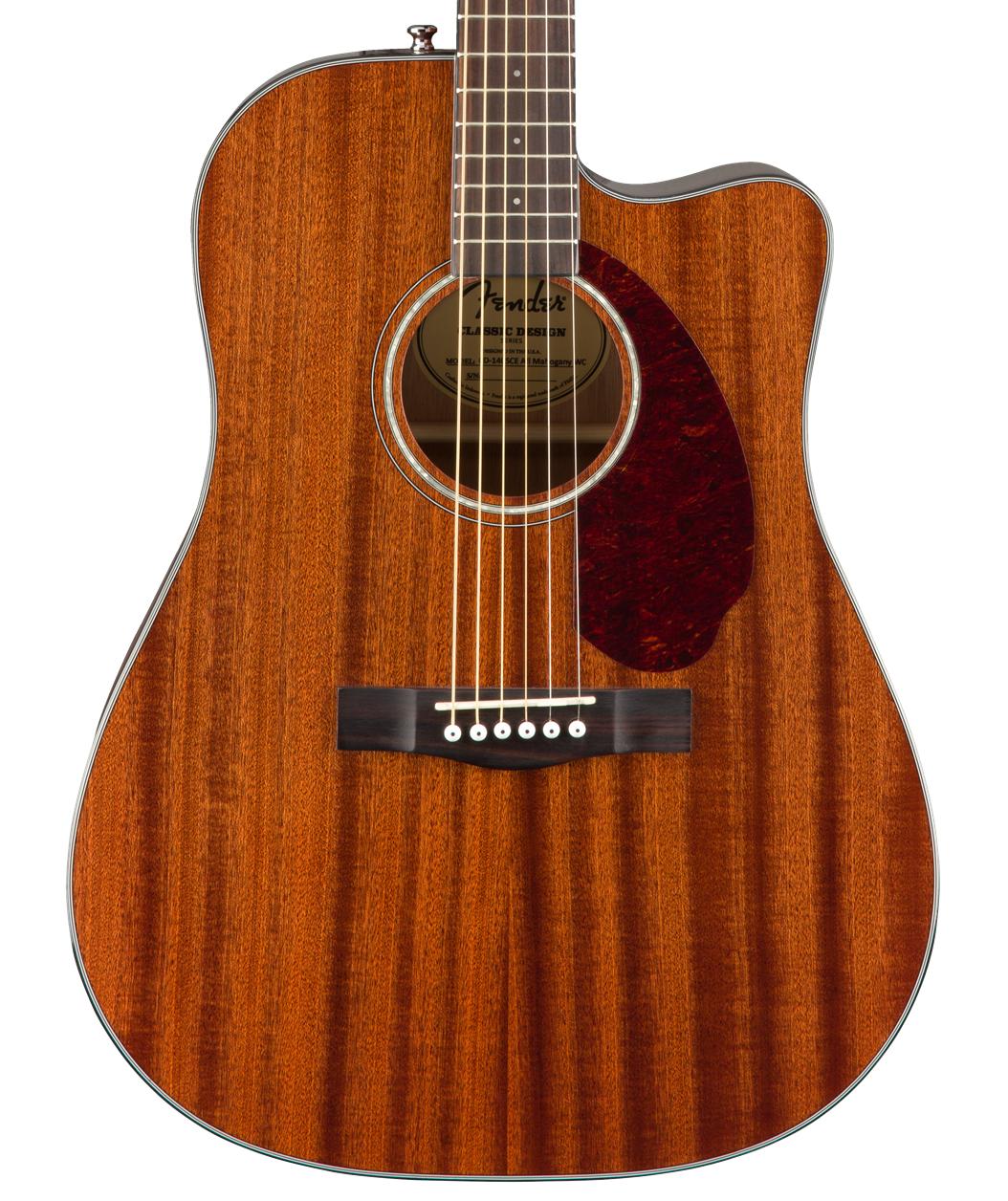 Fender NEW Fender CD-140SCE Dreadnought - All-Mahogany w/Case (891)