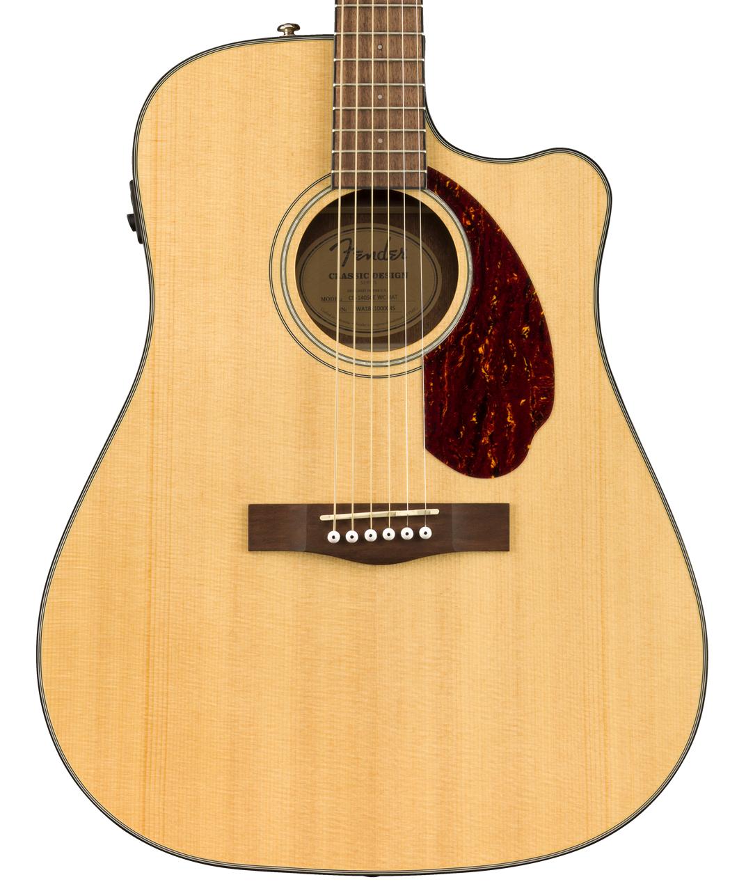 Fender NEW Fender CD-140SCE Dreadnought - Natural w/Case (119)