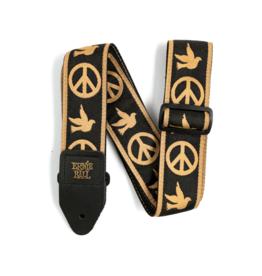 Ernie Ball NEW Ernie Ball Jacquard Guitar Strap - Peace Love Dove