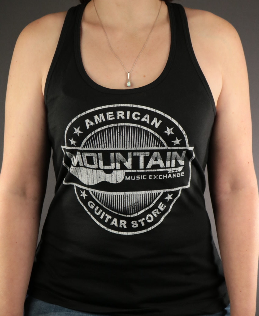 MME MME 'American Guitar Store Distressed Logo' Tank Top - Black - L