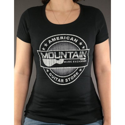 MME MME 'American Guitar Store Distressed Logo' Women's Tee - Black - XL